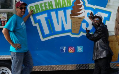 Green Man Twist Ice-cream Trailer pays Homage to the Myth of Walnut Hills' 'Green Man'