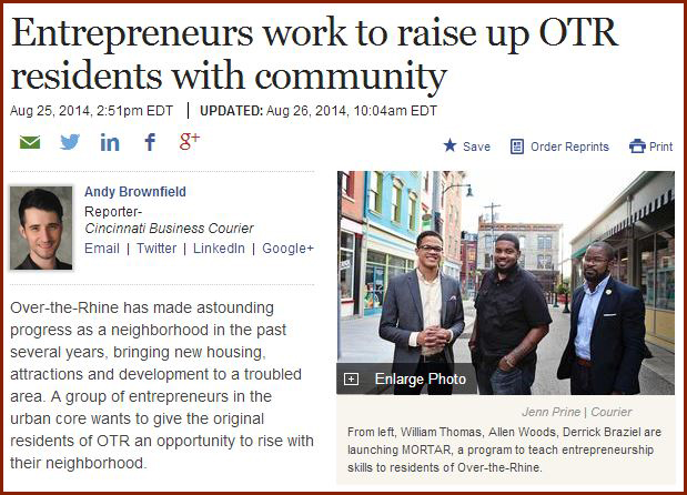 Entrepreneurs work to raise up OTR residents with community