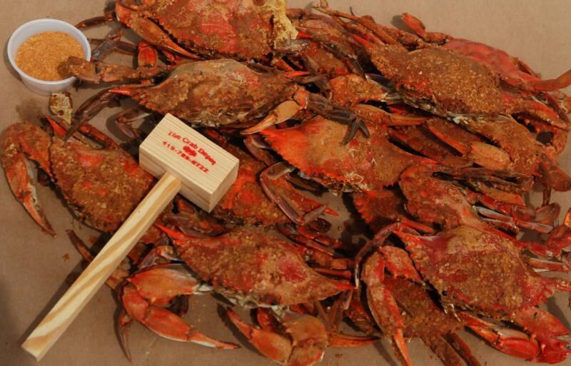 They are my favorite food. As a family, we would spend all day in the Eastern Shore of Maryland at the crab table with the hole in the middle, eating blue crabs and playing cards (Pinochle) with cans of Pepsi, and potato chips. Great memories.