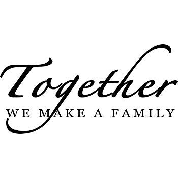 "I LOVE my hubby and our blended family. I love my church family. I love my MORTAR family. As an orphan, family means a lot, particularly when it is chosen. I picked the photo statement, ""Together, we make a family."" Because I've never met a blood relative. Everyone who is in my life is in it by choice, that is a tremendous blessing. A family looks like many things, and I'm honored to have such wonderful representations in my life!"
