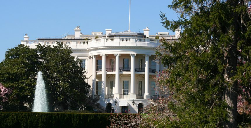 White House from the South Lawn