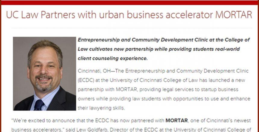 University of Cincinnati - MORTAR - Lewis Goldfarb - OTR - Over the rhine - UC Law